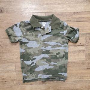 💛3/$12 THR CHILDRENS PLACE Camo Polo Shirt